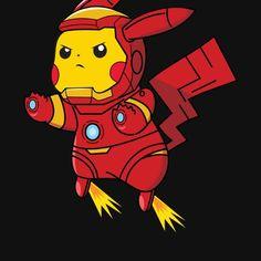 Iron Pika by Being Indian Pikachu Tattoo, Pikachu Drawing, Pokemon Sketch, Pikachu Art, Pokemon Fan Art, Cute Pokemon Wallpaper, Cute Cartoon Wallpapers, Deadpool Pikachu, Deadpool Funny