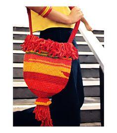 Vintage Crochet Pattern 1970s Shoulder Bag Purse by 2ndlookvintage, $3.00