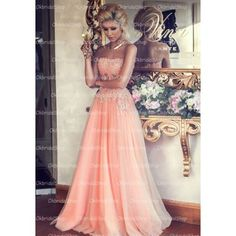 pink prom dress, long prom dress, 2016 prom dress, lace prom dress, custom prom…