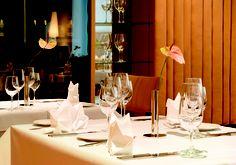 Restaurant WEISSENHOF Table Settings, Germany, June, Restaurant, Stuttgart, Central Station, Diner Restaurant, Place Settings, Deutsch