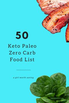 Keto or low carb? If you aren't paying attention, you'll be over 25 carbs in a blink of an eye before you know it. Here's 50 Keto Paleo Zero Carb foods. Primal Recipes, Good Healthy Recipes, Low Carb Recipes, Real Food Recipes, Healthy Options, Free Recipes, Dessert Recipes, Zero Carb Diet, No Carb Food List