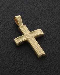 Σταυρός Χρυσός Κ14 Wall Crosses, Cross Jewelry, Cross Paintings, Pendants, Jewellery, Stuff To Buy, Minimalist Chic, Slip On, Jewels