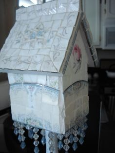Enchanted Rose Studio: Broken China Mosaic Birdhouses and Design Inspiration