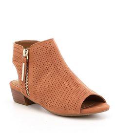 31aa45db12efb GB Girls Xanderr-Girl Microfiber Peep Toe Block Heel Shoes Block Heel Shoes