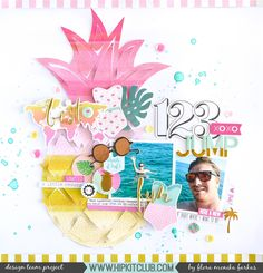 Pineapple scrapbook layout made with April 2017 @hipkitclub | by @floramfarkas