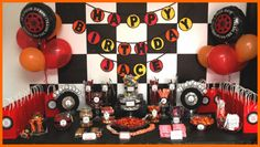 Hayden is dying to have a monster truck birthday party... this girl did a great job with her son's.  Great ideas!