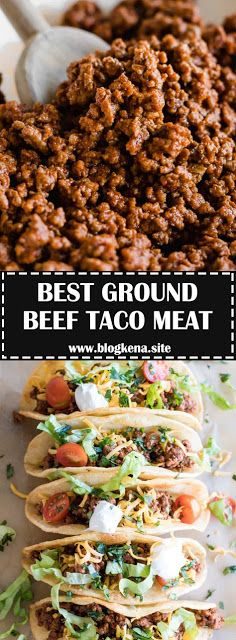 BEST GROUND BEEF TACO MEAT - #recipes