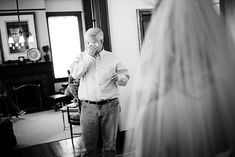 10 most emotional wedding photos: father of the bride gets teary eyed when he sees daughter (photo by anne almasy) I will always be daddy's little girl. I must have this picture Bride Pictures, Wedding Pictures, Party Pictures, Sister Wedding, Dream Wedding, Forest Wedding, Daddys Little Girls, Before Wedding, Cute Wedding Ideas