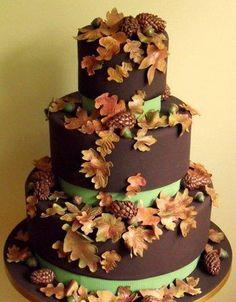 Eine schöne Idee für eine #Hochzeit im #Herbst  Love love love this cake....I so want an autumn wedding