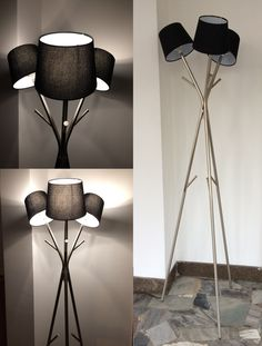 My First IKEA HACK! Knippe Coat Stand and Floor Lamp.