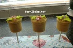 cakepop bloempotje