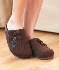 Knit Clogs with Sherpa Lining | The Lakeside Collection