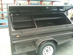 Looking for quality custom tradesman trailers for your business? We design and build trailers here in Australia. Contact us for a quote or friendly advice. Super Trailer, Small Trailer, Truck Flatbeds, Trucks, Mobile Welding, Welding Trailer, Construction Tools, Utility Trailer, Project Ideas