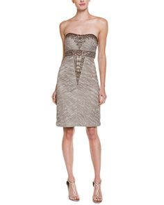Spotted this Sue Wong Taupe Floral Lace Strapless Dress on Rue La La. Shop (quickly!).