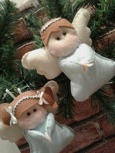 felt ornaments angels