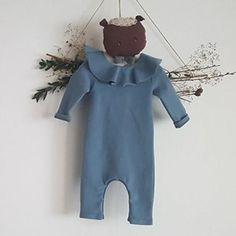 Mini dressing Ruffle Bebe Romper(Blue)