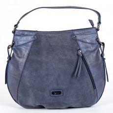Kožená semišová kabelka Segue modrá