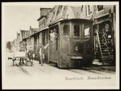 Stoomtram uit 1903 / reed van Amsterdam via Monnickendam naar Edam. / foto halte Noordeinde Monnickendam