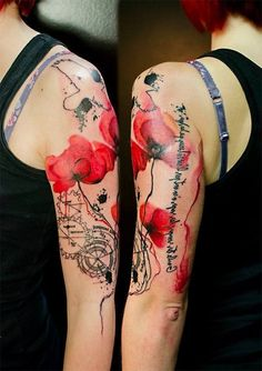 Poppies tattoo - 60 Beautiful Poppy Tattoos  <3 <3