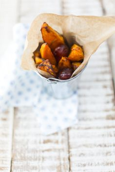 Sweet potato wedges with chorizo, great with grilled steak. Recipe for the Good Food Channel and photo by Sharron Gibson Barbecue Sides, Bbq, Good Food Channel, Sweet Potato Wedges, Summer Barbecue, Summer Food, Chorizo, Summer Recipes, Side Dishes