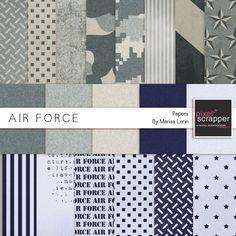 Air Force Papers Kit by Marisa Lerin   Pixel Scrapper digital scrapbooking
