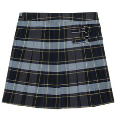 Girls 4-20 & Plus Size French Toast School Uniform Pleated Plaid Skort, Size: 12 Plus, Blue Other