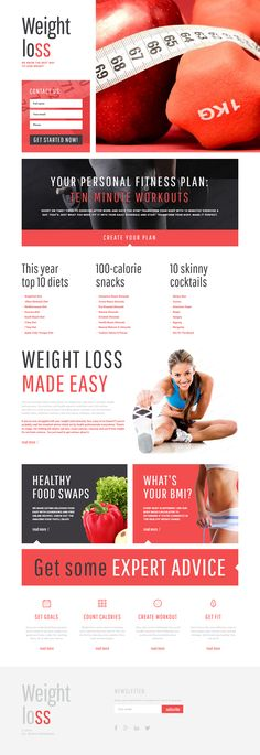 Weight Loss Landing Page Template on Behance