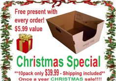 CHRISTMAS SPECIAL!!!   Cats Desire Disposable Cat Litter Boxes-ships U.S. Only- Ships 2-3 business days***NOT pre-folded***