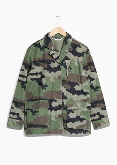 Other Stories image 1 of Military Jacket in Camo