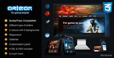Buy Orizon - The Gaming Template HTML version by Skywarrior on ThemeForest. Orizon – The Gaming HTML Template is a theme for gaming, news and entertainment content. Created using the latest CS.