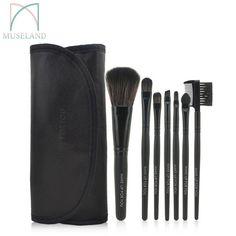 1set=7Pcs HOT 2015 Profession Makeup brush set  7pcs  make up brushes tools and Case cosmetic #1507