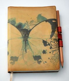 Storing my thoughts.  Leather journal by Revital bookarts