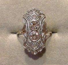 <3 Christmas gift from my husband. 1920's vintage engagement ring.