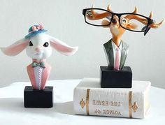 Deer and Rabbit Eye Glasses Holder
