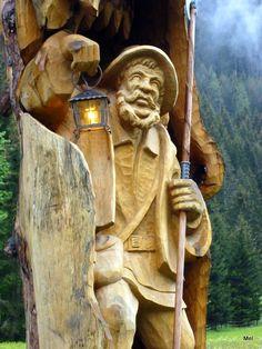 ..Austrian fisherman carving...