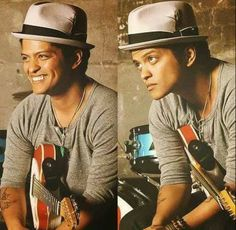 Smile and play #BrunoMars