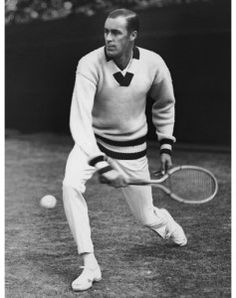 1920's tennis star Bill Tilden's dazzled with his forehand and his array of v-neck sweaters. His look became a standard leisure outfit for men. http://www.vintagedancer.com/1920s/1920s-mens-fashion-history-begins/