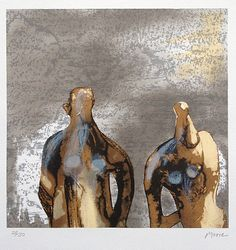 Henry Moore: Figures with Sky Background I (1981)
