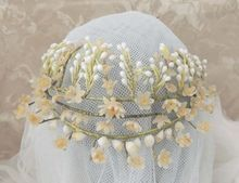 FRENCH Wax Floral Wedding Antique Bridal Tiara Wedding Crown Adornment Orange Blossom Headpiece. Visit my store at http://www.rubylane.com/item/492178-502TT613/FRENCH-Wax78-Floral-Wedding-Antique