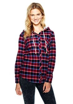 Hooded Plaid Shirt - Blouses & Shirts - Tops - Clothes - delias - Categories - dELiA*s We Wear, How To Wear, Shirt Blouses, Shirts, Hoods, Plaid, My Style, Womens Fashion, Fashion Tips