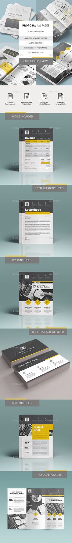 Modern Industry Leading Proposal Template InDesign INDD - 16 Pages - purchase proposal templates