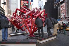 """Young Projects Play """"Match-Maker"""" in Times Square"""