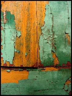 love the old texture of the paint and wood