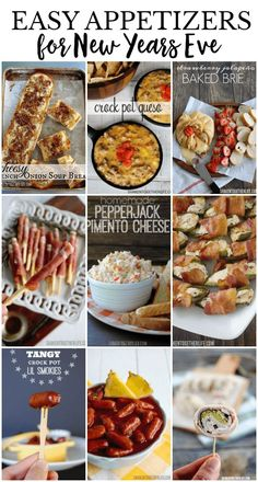 These are some of the most popular appetizers for New Years Eve! (Or anytime, really!) Appetizers for the crock pot, oven & even some that don't require any cooking at all! New Years Eve Snacks, New Year's Snacks, New Years Eve Dessert, New Years Eve Party Ideas Food, New Year's Eve Appetizers, Popular Appetizers, New Years Eve Dinner, Light Appetizers, Finger Food Appetizers