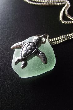 seaglass with turtle... gift for my mama!!!!