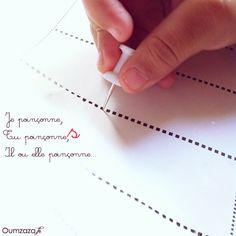 [Ecole à la CaZa] Le poinçonnage et la ligne de scotch #Montessori : Oum Zaza.fr