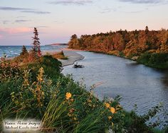 Sunset on the Two-Hearted River. The river runs nearly 24 miles through forested wilderness in Luce County, Michigan and drains into Lake Superior. Photo by Vision Three Images – Michael Koole.