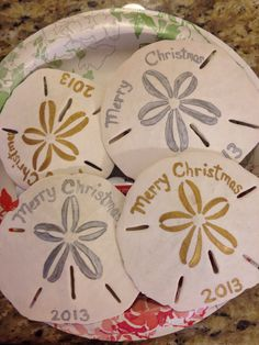 Sand Dollar Christmas Ornament with Crystals | Seashell crafts ...