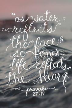 .Proverbs 27:19