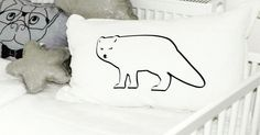 Handmade, linen cushions for kidsroom, babyroom